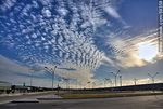 Foto #59358 - Airport parking with cirrus in the sky