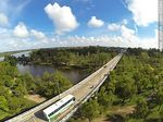 Foto #63590 - Aerial photo of the bridge on Route 5 on the Río Negro