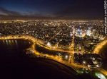 Foto #65240 - Nocturnal aerial photo of the Rep. of Peru and Armenian Ramblas, buildings and towers
