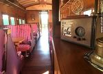 Foto #65540 - Interior of an old wagon turned-restaurant. Living room