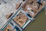 Foto #67227 - Aerial photo of pier C and wood cargo