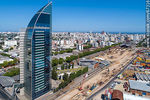 Foto #67316 - Aerial photo of the works in the South America Rambla. View to the south. January 2020